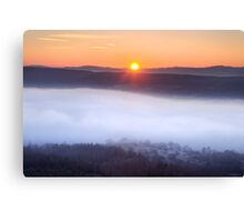 The inevitable sunset Canvas Print