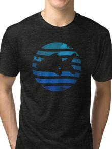 Love Fish - Grunge Tri-blend T-Shirt