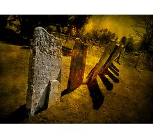 Gravestones & Shadows Photographic Print