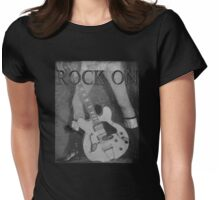 Rock On Tee Womens Fitted T-Shirt