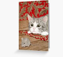 There's a mouse in the house! Greeting Card