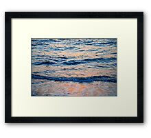 Sea and sunset Framed Print
