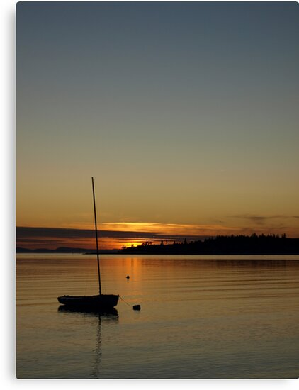 A Birch Bay sunset, Washington State by Liz Bell