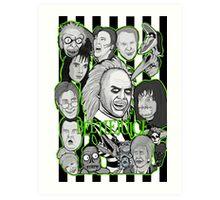 Beetlejuice collage Art Print