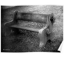 Bench by the Barn Poster