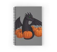 Little Black Dragon with Pumpkin Hoard Spiral Notebook