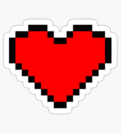 8 bit heart design Sticker