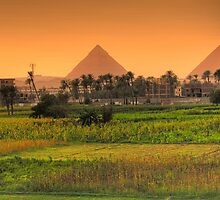 Distant Pyramids by Mike Matthews