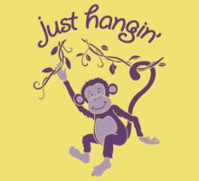 Just hangin' funky monkey T Kids Tee