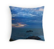 Sunset over Sutro Bath Ruins Throw Pillow