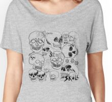 Black Sketchbook Skulls Women's Relaxed Fit T-Shirt