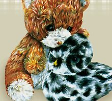 Teddy bear cuddles  by Sarah Trett