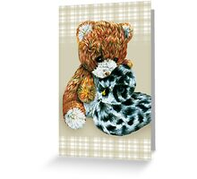 Teddy bear cuddles  Greeting Card