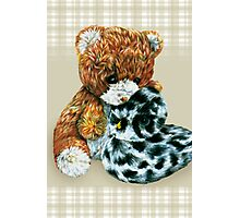 Teddy bear cuddles  Photographic Print