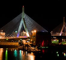 Boston's Zakim Bunker Hill Bridge by Mitchell Grosky