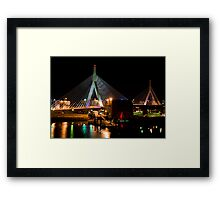 Boston's Zakim Bunker Hill Bridge Framed Print