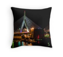 Boston's Zakim Bunker Hill Bridge Throw Pillow