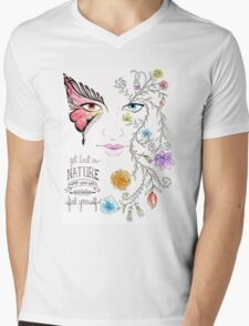 Lost in Nature Mens V-Neck T-Shirt