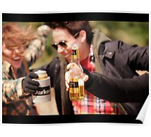 Beer Drinking Poster