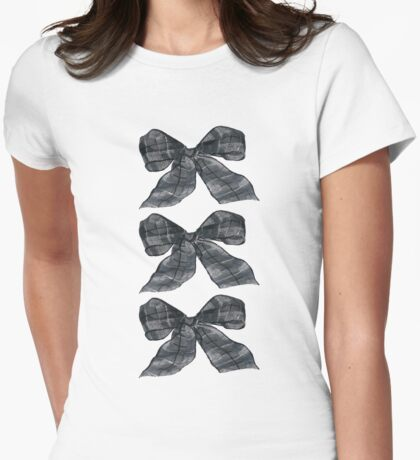 Black Bows Womens Fitted T-Shirt