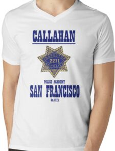 Dirty Harry's school of policing Mens V-Neck T-Shirt