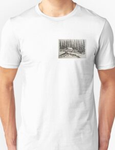 WHISPERING WINTER - Cabin in the Back Country T-Shirt