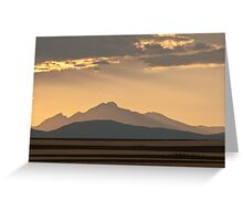 Gold In The Hills Greeting Card