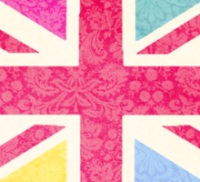 Pink Union Jack Sticker