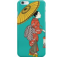 A Japanese woman from the Edo period iPhone Case/Skin
