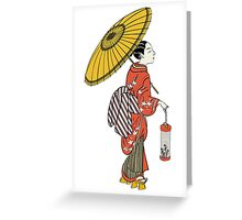 A Japanese woman from the Edo period Greeting Card