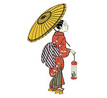 A Japanese woman from the Edo period Photographic Print