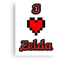 I Heart Zelda tee Canvas Print