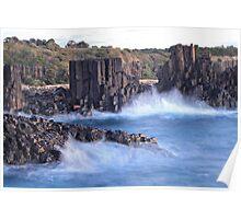 Misty Waves - Bombo Headland, NSW, Australia Poster