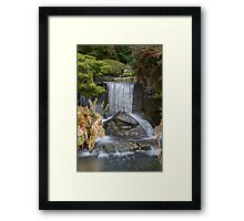 Waterfall at Kilver Court Framed Print