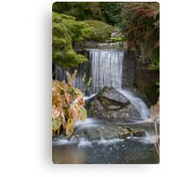 Waterfall at Kilver Court Canvas Print