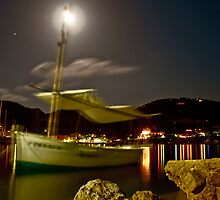 Fishing Boat Moves in the Night by Unidentifiable
