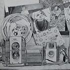 Camera's and pictures drawing by ArtLuver
