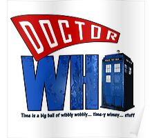 A Dr Who Logo Poster