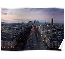 "Sunset on ""La Défense"" Poster"