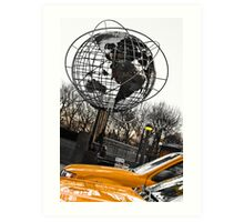 Yellow Taxi in New York City Art Print