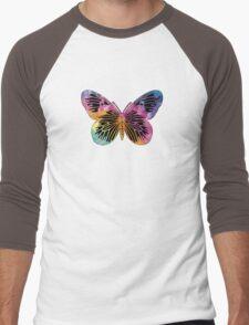 Butterfly Design Men's Baseball ¾ T-Shirt