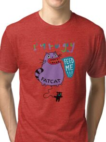 Fat Cat Tri-blend T-Shirt