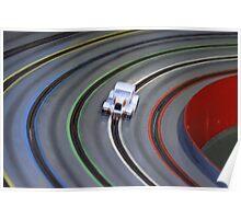 White Flash - Slot Car Racing Poster