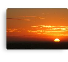 Sunset from Docklands Canvas Print