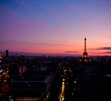 Sunset on Paris by Audrey Meffray