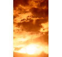 Golden Cloudy Sunset Photographic Print