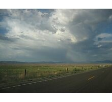 Clouds, Rainbow over Carson Valley, NV Photographic Print