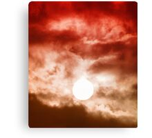 Red Cloudy Sunset Canvas Print