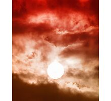 Red Cloudy Sunset Photographic Print