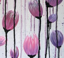 Drippy Tulips - Pink & Purple Sticker
